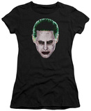 Juniors: Suicide Squad- Joker Serious Face T-shirts