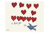 Andy Warhol - I Love You So, c. 1958 - Reprodüksiyon