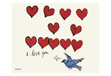 I Love You So, c. 1958 Print van Andy Warhol