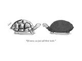 """Of course, we just call them necks."" - New Yorker Cartoon Premium Giclee Print by Jason Adam Katzenstein"