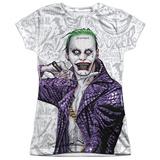 Juniors: Suicide Squad- Joker Close Shave Etches T-shirts