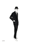 Untitled (Male Fashion Figure), c. 1960 Art par Andy Warhol