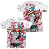 Suicide Squad- Harley Relaxed Bat Argyle (Front/Back) Shirt