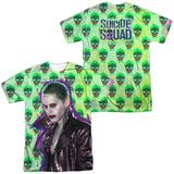 Suicide Squad- Joker Skulls All Around (Front/Back) T-Shirt