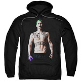 Hoodie: Suicide Squad- Joker All Tatted Up Pullover Hoodie