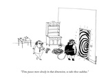 """Time passes more slowly in that dimension, so take these sudokus."" - New Yorker Cartoon Premium Giclee Print by Edward Steed"
