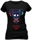 Juniors: Suicide Squad - Harley Sugar Skull - T-shirt
