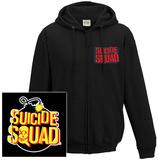 Zip Hoodie: Suicide Squad - Bomb Logo (Front/Back) Vetoketjuhuppari