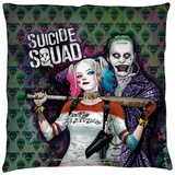 Suicide Squad - Perfect Couple Throw Pillow Throw Pillow