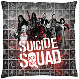 Suicide Squad - Splatter Throw Pillow Throw Pillow