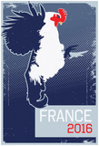 France 2016 Le Coq Gaulois (Grey Border) Prints