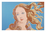 Andy Warhol - Details of Renaissance Paintings (Sandro Botticelli, Birth of Venus, 1482), 1984 (blue) Reprodukce