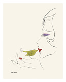 Untitled (Female Head), c. 1958 Plakater af Andy Warhol