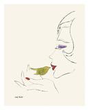 Andy Warhol - Untitled (Female Head), c. 1958 - Reprodüksiyon