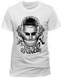 Suicide Squad - Joker Big Deranged Smile (Slim Fit) T-Shirts