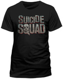 Suicide Squad - Scratched Metal Logo (Slim Fit) T-Shirt