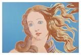 Details of Renaissance Paintings (Sandro Botticelli, Birth of Venus, 1482), 1984 (blue) Posters by Andy Warhol