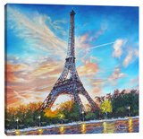 Paris Stretched Canvas Print by Michael Romero