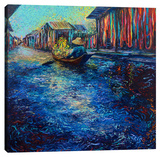 My Thai Floating Market Stretched Canvas Print by Iris Scott
