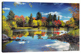 Fall Beauty Stretched Canvas Print by Michael Romero