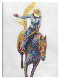 Rodeo Stretched Canvas Print by Iris Scott