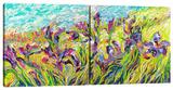 Irises by Iris (Diptych) Stretched Canvas Print by Iris Scott