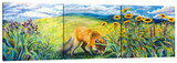 Foxy (Triptych) Stretched Canvas Print by Iris Scott