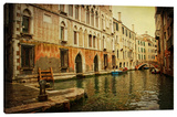 Morning On The Canal Stretched Canvas Print by Dano