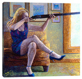 Claire's Gun Stretched Canvas Print by Iris Scott