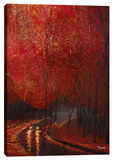 Crimson Leaves Stretched Canvas Print by Michael Romero