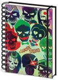 Suicide Squad - Skulls A5 Notebook Diario