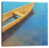 Nicaraguan Blues Stretched Canvas Print by Iris Scott