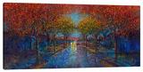 Symmetry Street Stretched Canvas Print by Iris Scott