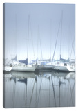 Misty Marina III Stretched Canvas Print by Dano