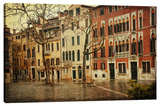 The Courtyard Stretched Canvas Print by Dano
