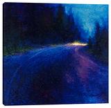 Cobalt Blue Drive Stretched Canvas Print by Iris Scott