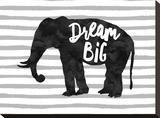 Dream Big Elephant Impressão em tela esticada por Amy Brinkman