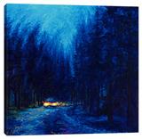Blue Redwoods Stretched Canvas Print by Iris Scott
