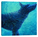 Only The Blues Stretched Canvas Print by Iris Scott