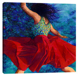 Redskirt Stretched Canvas Print by Iris Scott