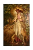 The Good Shepherd Giclée-tryk af Frederick James Shields