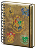 Harry Potter - Hogwarts Crests A5 Notebook Journal