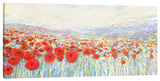 Poppies of Oz Stretched Canvas Print by Iris Scott
