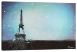 Paris Twilight Love Stretched Canvas Print by Michael Romero