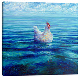 Chicken Of The Sea Stretched Canvas Print by Iris Scott