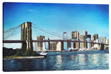 Brooklyn Bridge Stretched Canvas Print by Michael Romero