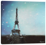 Paris Twighlight Stretched Canvas Print by Michael Romero