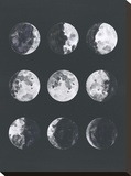Moon Phases Watercolor Ii Impressão em tela esticada por Samantha Ranlet
