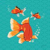 Goldfish II Art by Young Patty