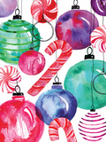 Candy Cane Ornaments Prints by Berrenson Sara